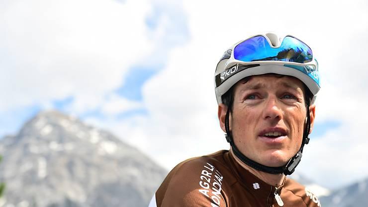 Mathias Frank im Dress seines französischen Teams AG2R während der diesjährigen Tour de Suisse