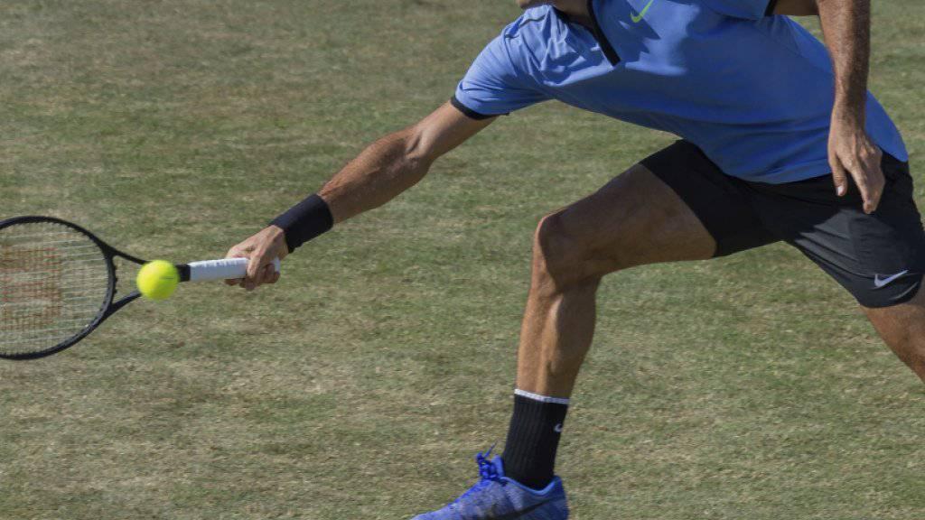Roger Federer startete problemlos zum Turnier von Halle