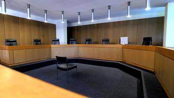 Gerichtssaal im Aargauer Obergericht.