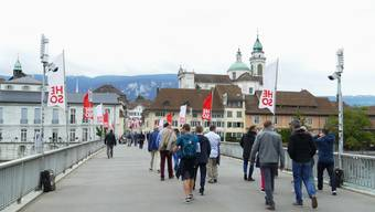 Messung Fussverkehr auf der Kreuzackerbrücke in Solothurn