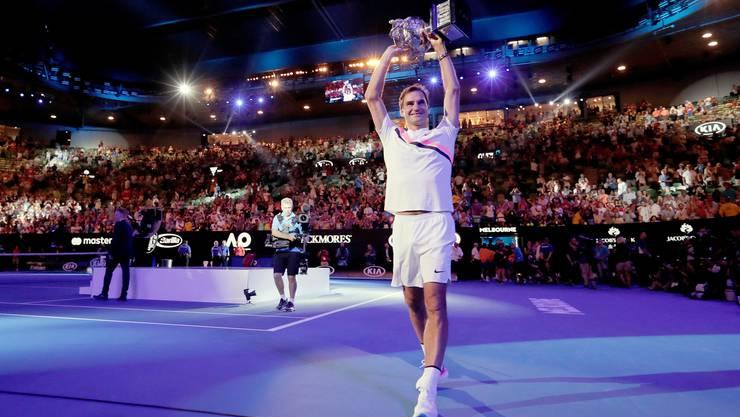 Seinen letzten Grand-Slam-Sieg feierte Roger Federer 2018 in Melbourne.