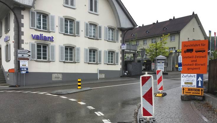Die «Bertschi»-Tafel in Boniswil.