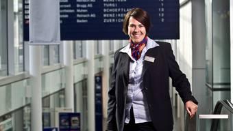 Marion Kittel, Leiterin des SBB-Reisezeitrums am Bahnhof Aarau.