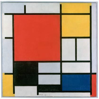 Strenge Regeln: Piet Mondrian duldete nur den rechten Winkel, die Grundfarben, Schwarz und Weiss. «Komposition mit Rot, Gelb, Blau und Schwarz» von 1921.
