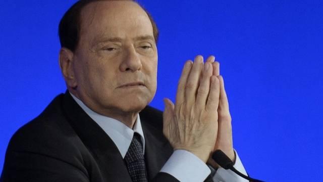 Silvio Berlusconis Unterstützung bröckelt aber der Cavagliere denkt nicht an Rücktritt (Archiv)