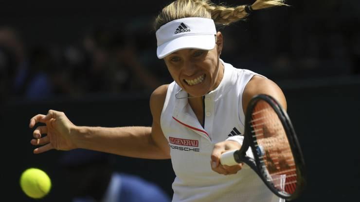 Mit fliegenden Haaren in ihren zweiten Wimbledonfinal: Angelique Kerber