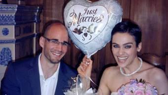 Nina Burri und Stefan Schwitter haben geheiratet (Bild Facebook)