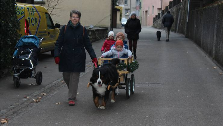 Therese Roth unterwegs mit ihrem nichtalltäglichen Gespann. zvg