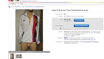 Die neue FCB-Trainerjacke auf Ebay