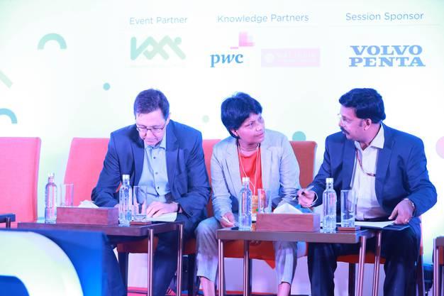 v.l.n.r:  Hess-CEO Alex Naef, Kantonsrätin Susan von Sury und Dr. K.R. Jyothilal, Vertreter der Regierung Keralas bei der Unterzeichnung des Abkommens am 29. Juni 2019