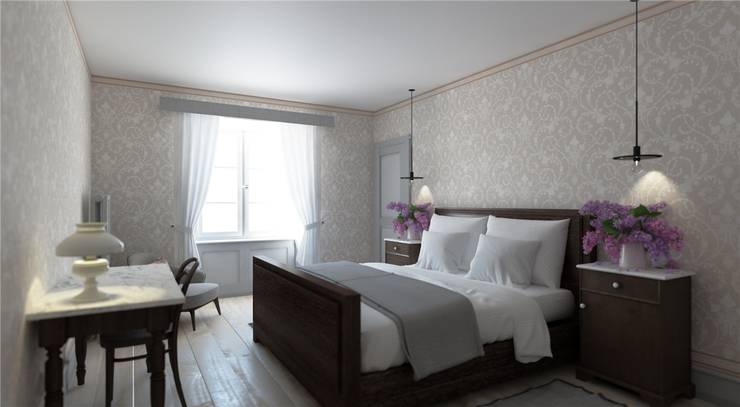 Im Osttrakt werden sechs Zimmer im historischen Stil eingerichtet.