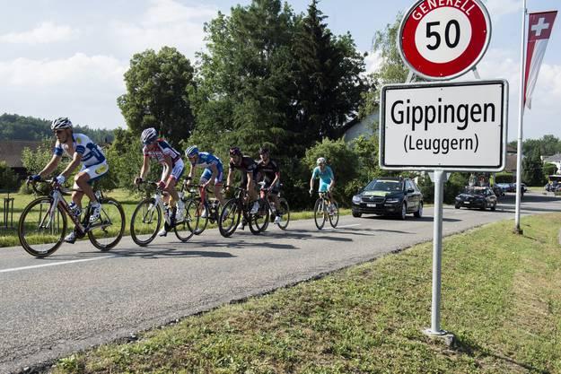 Es war der 52. GP des Kantons Aargau - zwischenzeitlich konnte sich  eine Fluchtgruppe absetzen und zirka zehn Minuten Vorsprung herausfahren.