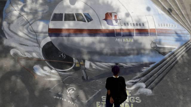 Die vermisste Boeing als Wandmalerei in Manila