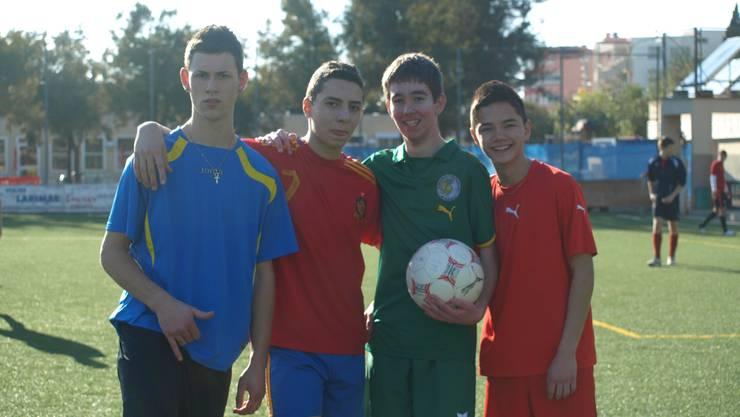 Vier junge Kicker des FC Wacker Grenchen (Archiv)