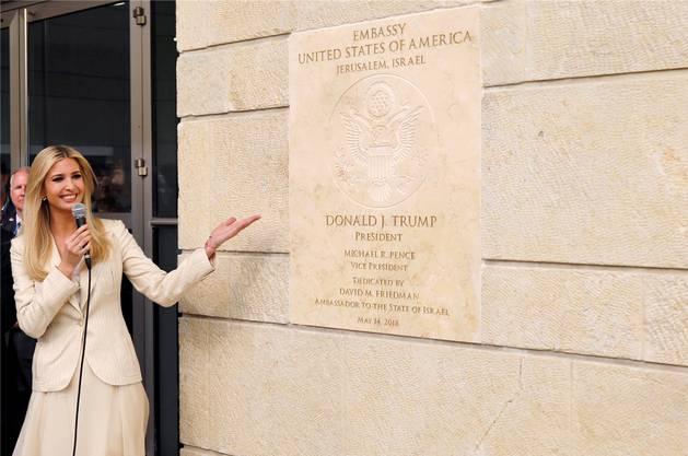 Präsidententochter und -beraterin Ivanka Trump bei der Eröffnung der US-Botschaft.