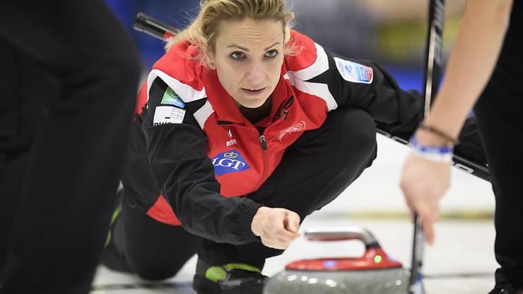 Skip Silvana Tirinzoni in der Vorrunde bis zuletzt konzentriert
