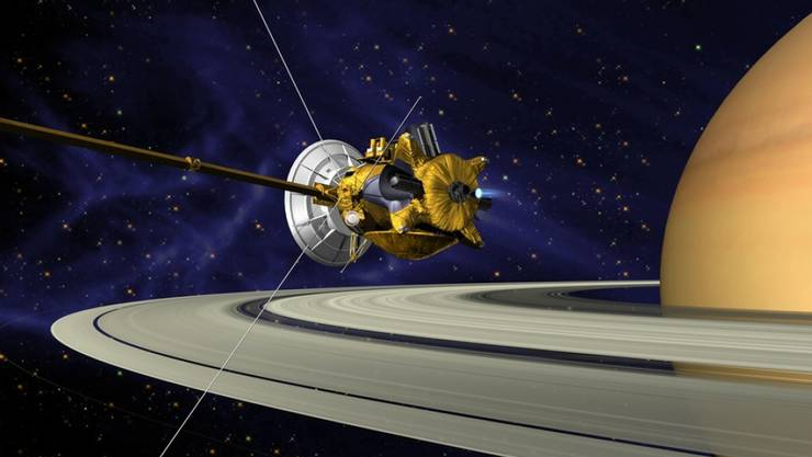 Illustration der Nasa-Sonde Cassini beim Saturn. (Archivbild)