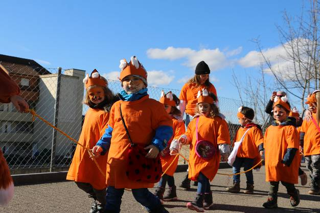 Hatten Spass: Kinder am Umzug in Möhlin.