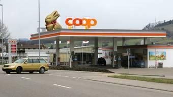 Die Coop-Tankstelle in Frick.