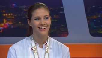 Weltmeister-Bäckerin Ramona Bolliger in der Sendung «TalkTäglich» – die besten Momente im Zusammenschnitt.
