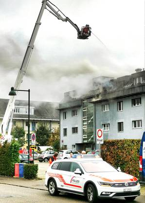 In Reinach geriet am Freitagvormittag eine Dachwohnung in Vollbrand.