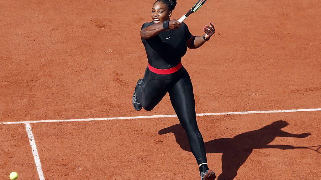 Serena Williams meldete sich in Paris zurück