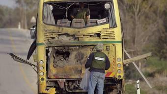 Der getroffene Schulbus