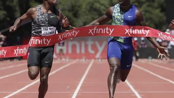 Kann Christian Coleman (li.) seinen Landsmann Justin Gatlin an der WM in der Königsdisziplin 100 m als Titelhalter ablösen?