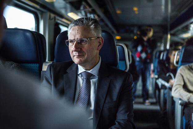 Andreas Glarner auf dem Weg nach Bern.