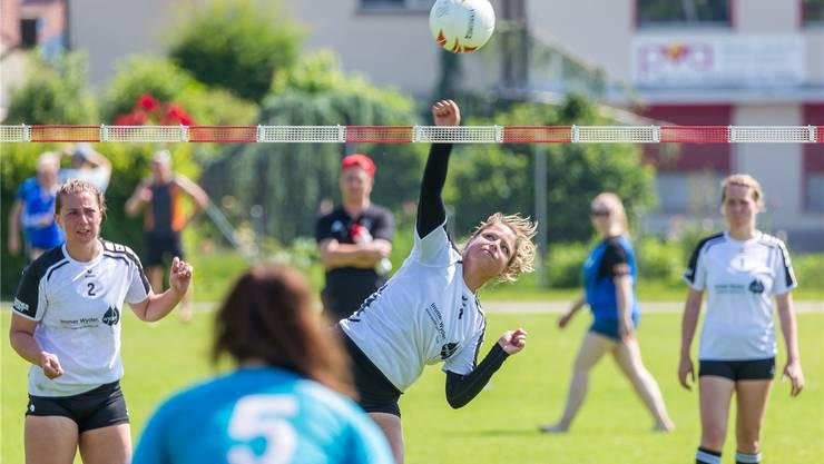 Die Frauen des STV Oberentfelden-Amsteg – im Bild Andrea Gerber – treffen im Halbfinal des Final4 auf Titelfavorit Jona.