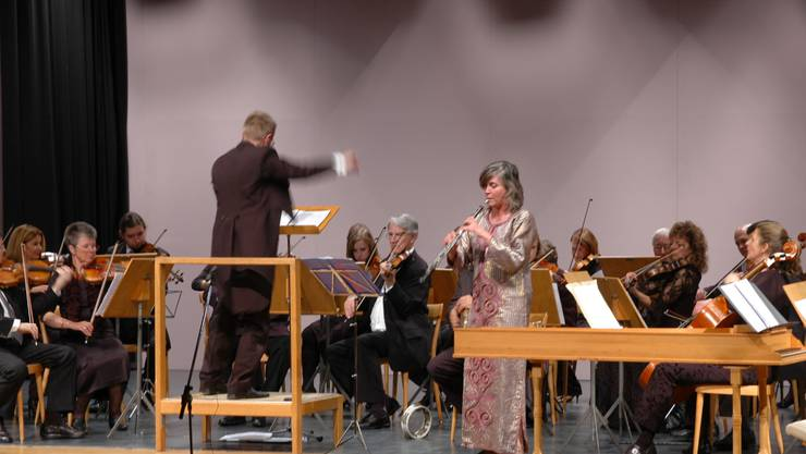 Das Stadtorchester und Solistin Barbara Jost.  dab