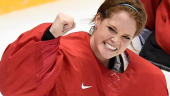 Aushängeschild in Sachen Frauen-Eishockey. Torhüterin Florence Schelling jubelt über Bronze bei Olympia. key