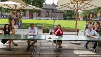 Medienkonferenz der Grünen Basel-Stadt und der SP Basel-Stadt zum Wahlkampfauftakt zu den Regierungswahlen.