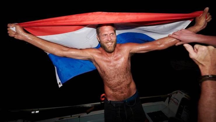 Der Niederländer Mark Slats bei der Ankunft.