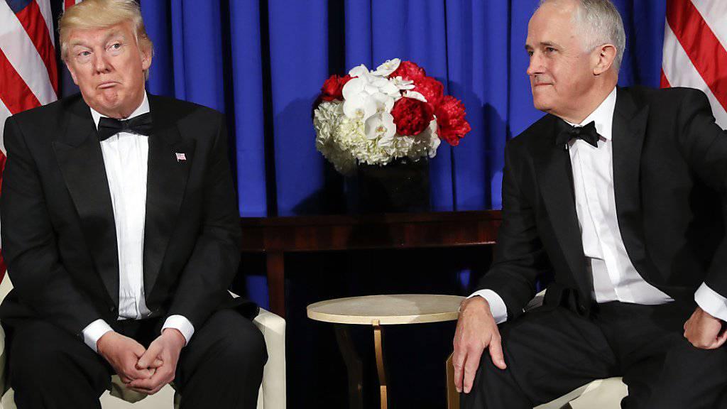 US-Präsident Donald Trump liebt Australien und trifft sich mit dessen Premier Malcolm Turnbull in New York.