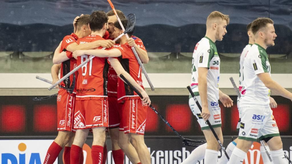 Die Könizer jubeln zum zweiten Mal nach 2018 im Superfinal.