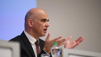 Alain Berset Anfang Woche an einer Medienkonferenz in Basel.
