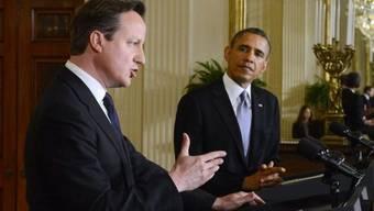 US-Präsident Obama (r) und der britische Premier Cameron