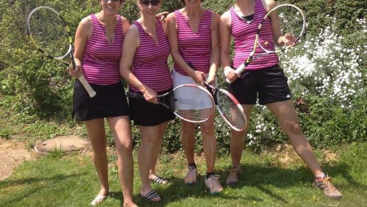 Zeigten Tennis vom Feinsten: Die Damen 30+ 3. Liga TC Frick 2.