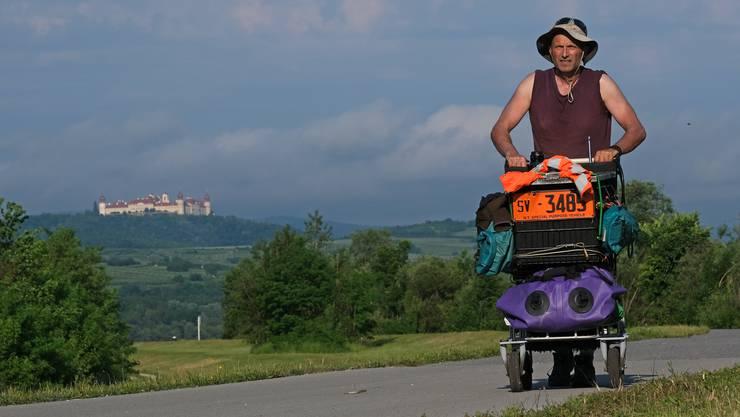 Christian Zimmermann unterwegs in der Wachau.