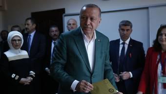 Der türkische Präsident Recep Tayyip Erdogan könnte bei der Kommunalwahl am Sonntag vielerorts herbe Einbussen erlitten haben.