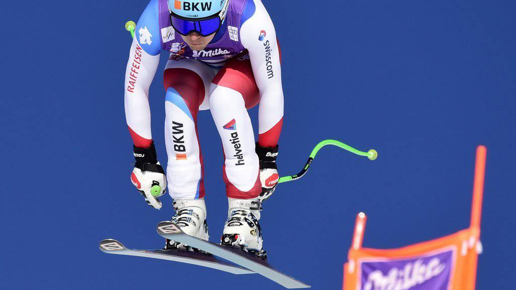Patrick Küng beim Weltcup-Abfahrtsrennen in Lake Louise. (Frank Gunn/The Canadian Press via AP/KEYSTONE)