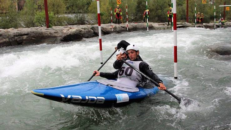 Lukas und Simon Werro, C2, Internationale Selektionen, Slalom Ivrea (IT) 16./17.04.2016