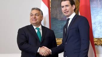 In Sachen Migration im selben Team: Der Ungar Viktor Orbán (l.) und der Österreicher Sebastian Kurz.