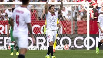 Stevan Jovetic (16) schoss das einzige Tor von Sevilla