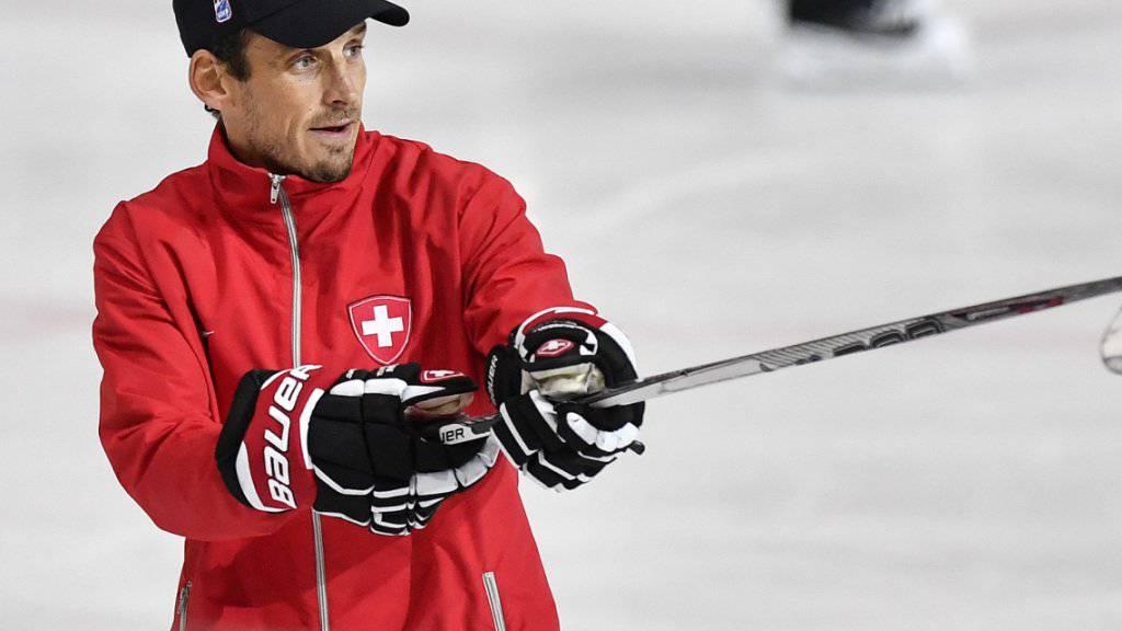 Das Schweizer Nationalteam mit Headcoach Patrick Fischer startet an der WM 2018 in Kopenhagen gegen Aufsteiger Österreich