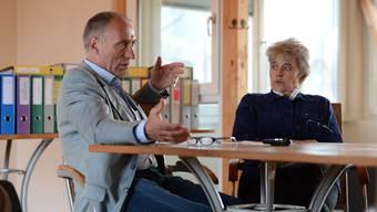 Christoph und Daniela Gaugler im Gespräch mit der bz.