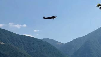 Die Ju 52 nach dem Start