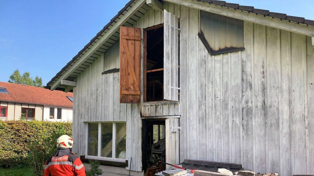 Näfels GL: Brand in Scheune rechtzeitig entdeckt
