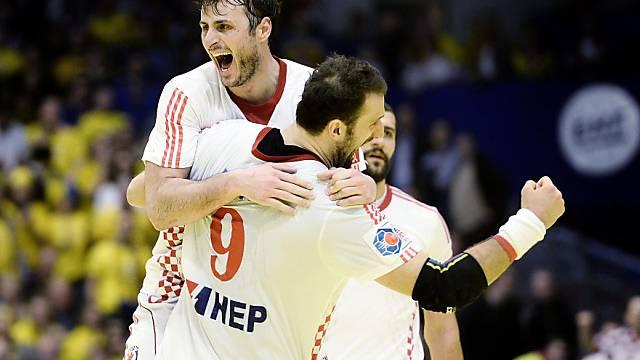 Kroatien (hier Duvnjak, links, und Vori) ohne Vorrunden-Niederlage